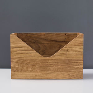 'To Do' Personalised Oak Letter Holder - desk accessories