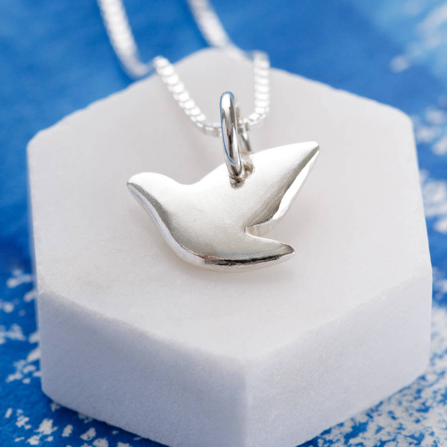 Sterling silver dove pendant by jenny grace jewellery sterling silver dove pendant mozeypictures Image collections
