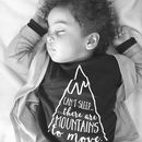 Kids 'Mountains To Move' Slogan T Shirt