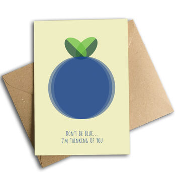Don't Be Blue I'm Thinking Of You Card, Eco Friendly