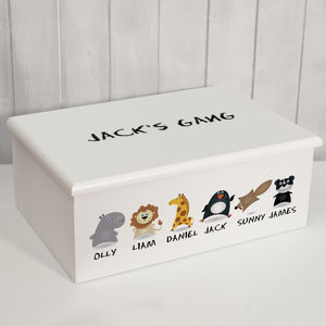 Personalised 'Keepsake Box' Animal Gang - children's room accessories