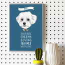 Personalised Dog Portrait With Traits