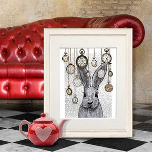 Alice In Wonderland Print, Rabbit Time