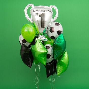 Football Crazy Party Balloon Bunch