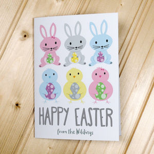 Personalised Happy Easter Cards/Postcards