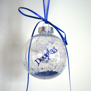 Personalised Papercut Bauble