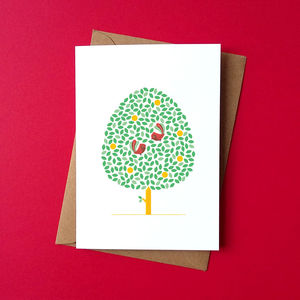 Birds Together Greetings Card - blank cards
