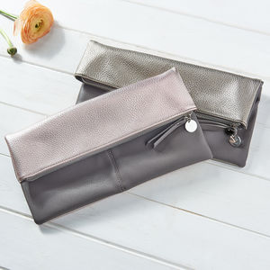 Personalised Fold Over Clutch - gifts for her