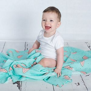 Watermelon Muslin Swaddle Blanket - blankets, comforters & throws