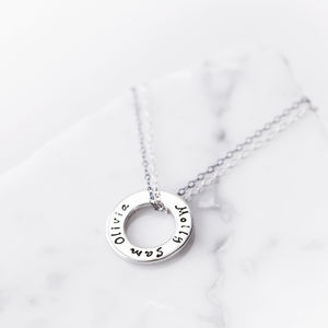 Personalised Silver Message Ring Pendant - necklaces & pendants