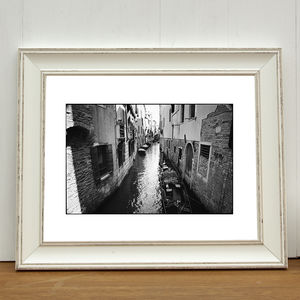 Canal Side Street, Venice, Italy Photographic Art Print