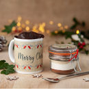 Vegan Personalised Christmas Mug Cake Gift Set