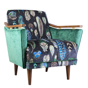 Pinzon Armchair In Quill Feather Velvet - sofas