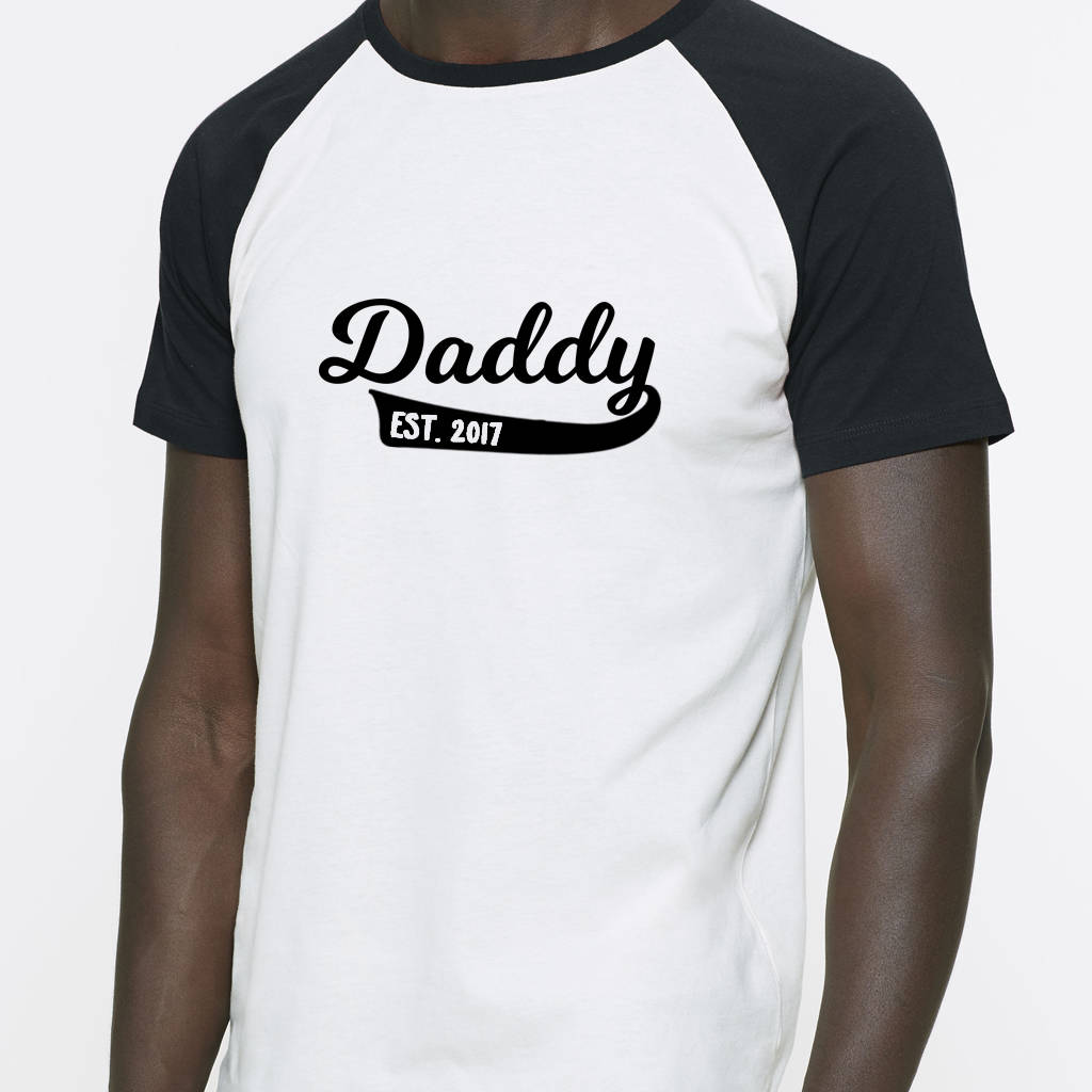 9818a6824 personalised daddy organic baseball t shirt by blueberry boo kids ...