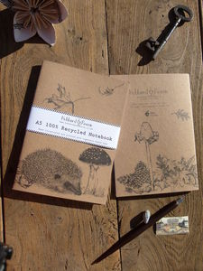 Hedgehog 100% Recycled Notebook