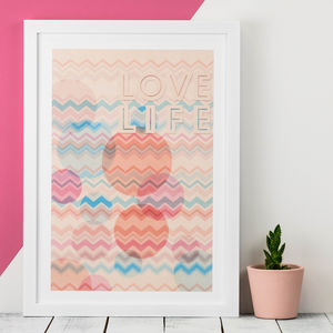 Love Life A3 Print - modern & abstract