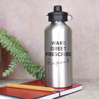 Doctor Slogan Water Bottle
