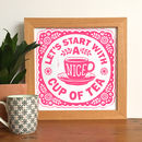 A Nice Cup Of Tea Linocut Print