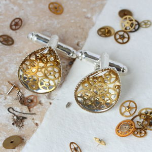 Steampunk Watch Parts Cufflinks