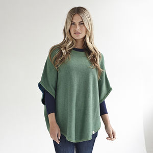 Reversible Poncho - women's fashion