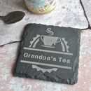 Personalised Tea Slate Coaster