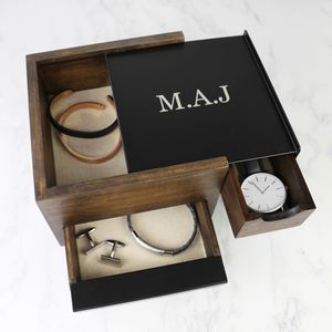 Personalised Stowit Mini Wooden Storage Box - watch storage