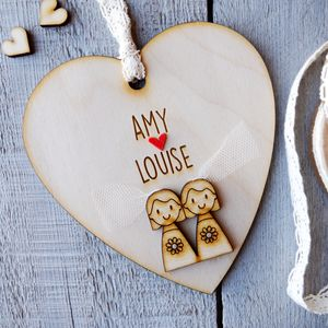 Personalised Bride And Bride Wedding Heart - view all