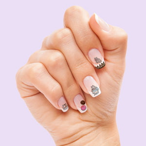 Cat Donut Nail Transfers - nail care