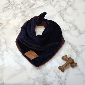 Party Luxe Velvet Dog Neckerchiefs - clothes & accessories
