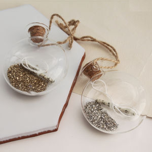 Fairy Dust Scroll Bauble - tree decorations