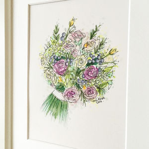 Wedding Bouquet Hand Drawn Illustration