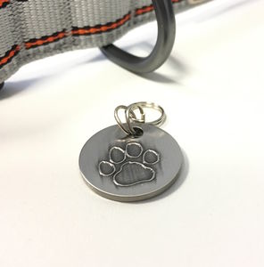 Personalised Antique Nickel Pet Tag - cats