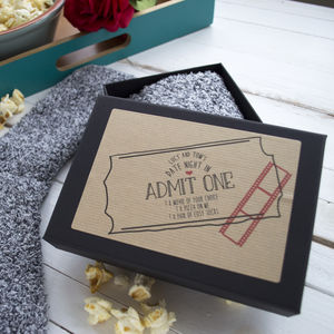 Personalised Date Night In Slipper Sock Gift Box