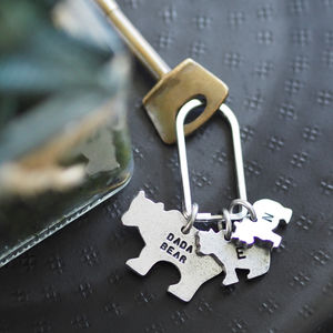 Bear Family Keyring - secret santa gifts