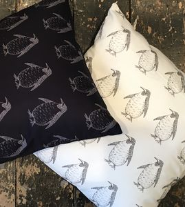 Penguin Cushion Cover - patterned cushions