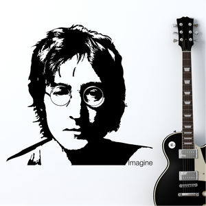 John Lennon 'Imagine' Wall Sticker - wall stickers