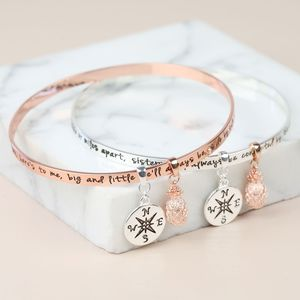 'Sisters' Meaningful Quote Bangle - bracelets & bangles