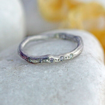 Silver And Diamond Eternity Ring