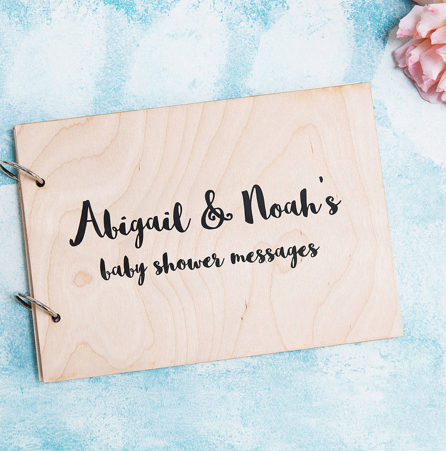 Personalised Modern Calligraphy Baby Shower Book By Clouds