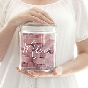 Personalised Glass Storage Jar - tins, jars & bottles