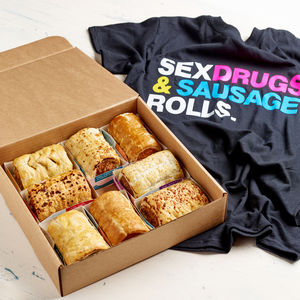 Eight Gourmet Sausage Rolls And T Shirt - what's new