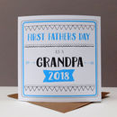 First Father's Day Grandad Card