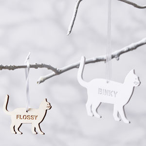Personalised Pet Christmas Decoration - tree decorations