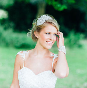 Venus Vintage Inspired Head Dress - bridal hairpieces