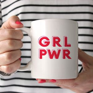 'Grl Pwr' Girl Power Mug