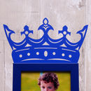 Child's 'Little King' Photo Frame in Blue