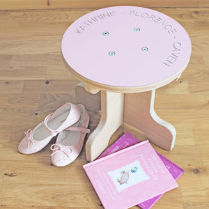 Personalised Children's Wooden Stool - 1st birthday gifts