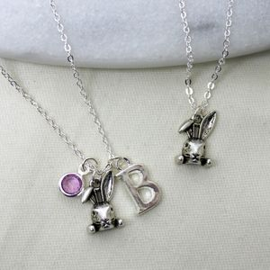 Personalised Rabbit Charm Necklace - children's jewellery