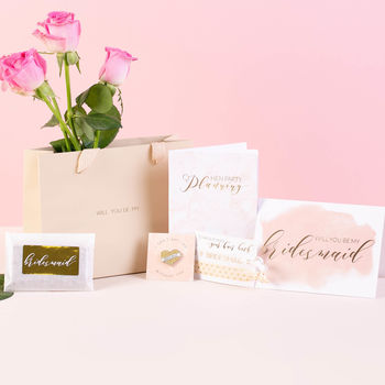 Will You Be My Bridesmaid Gift Bag Set