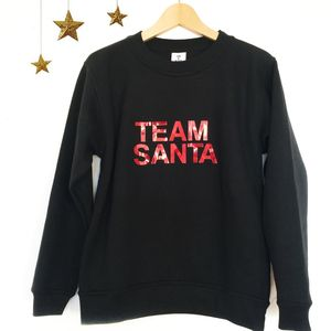 'Team Santa' Slogan Sweatshirt